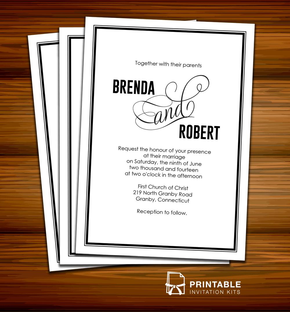 FREE PDF Wedding Invitation Modern Calligraphy Weddin
