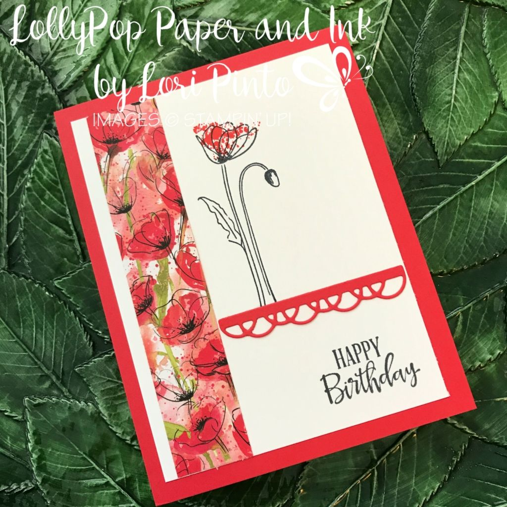Happy birthday with painted poppies in 2020 poppy cards