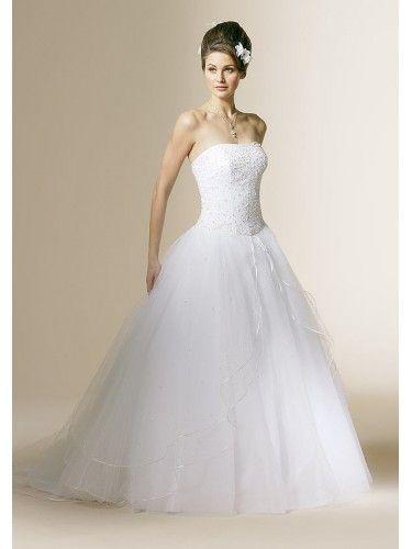 corset strapless wedding dress