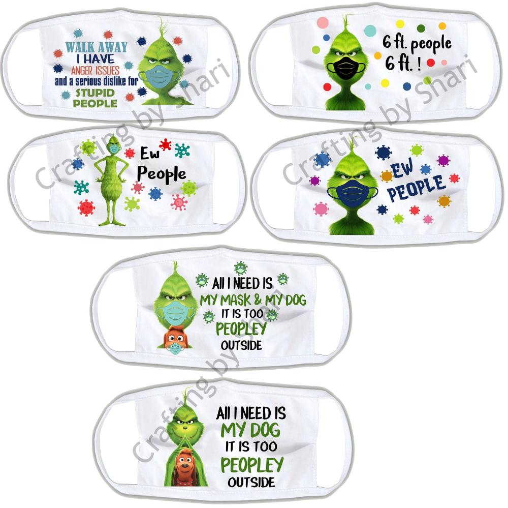 Grinch Mask Bundle Images Set 1 Etsy Grinch Mask Easy Face Mask Diy Mask Images