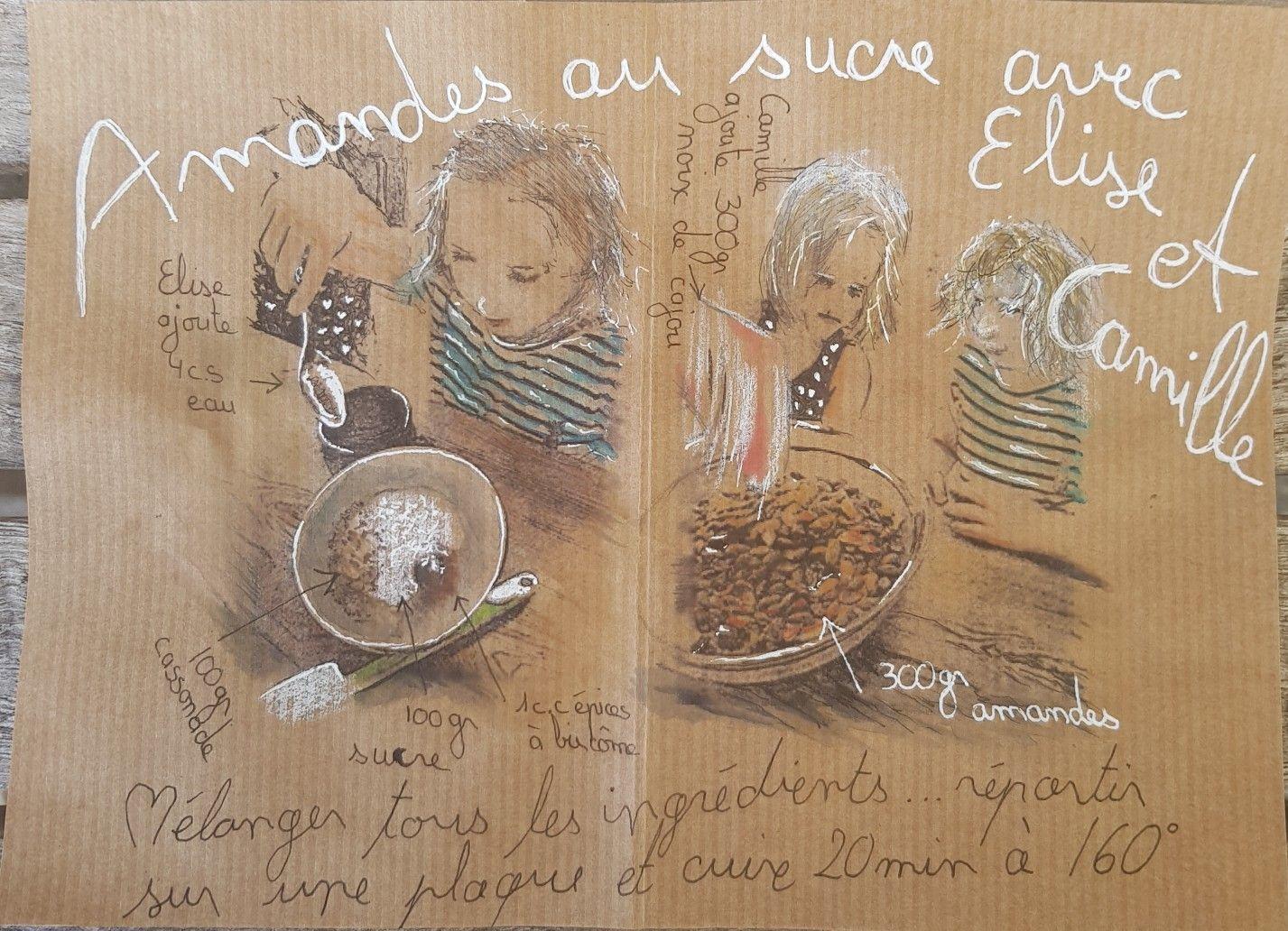 Feutre Aquarelle Et Pastel Sur Papier Kraft De Monique Seydoux