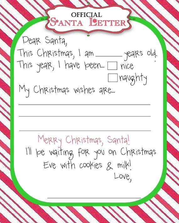 Blank Letter From Santa  Google Search  For The ChirrN