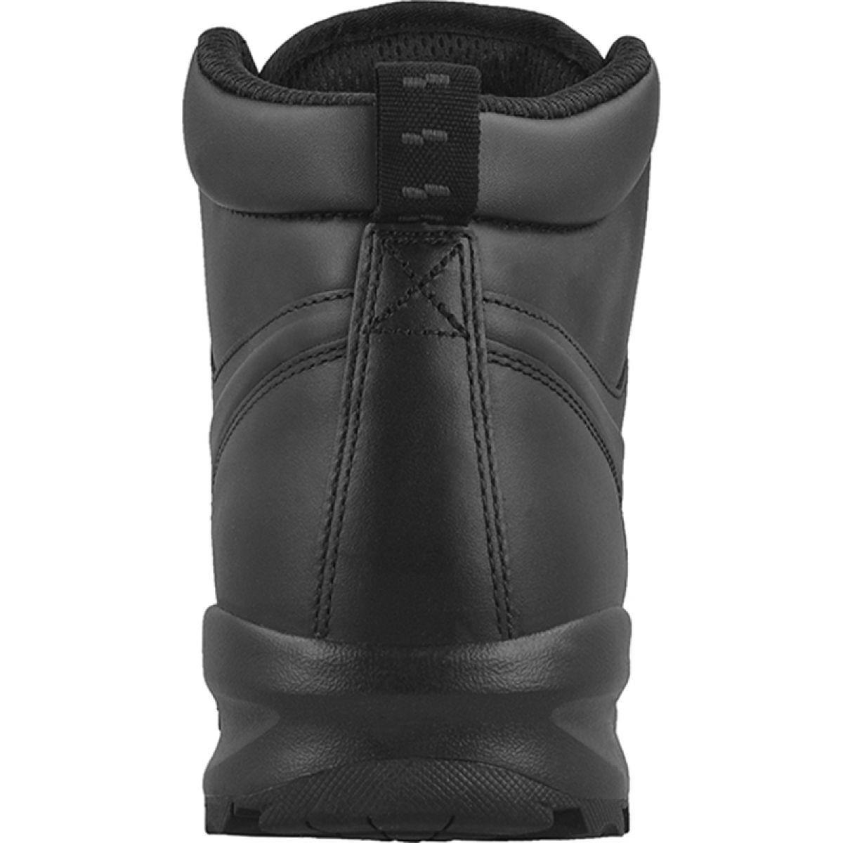 Buty Zimowe Nike Manoa Leather M 454350 003 Czarne Winter Shoes Leather Nike Shoes