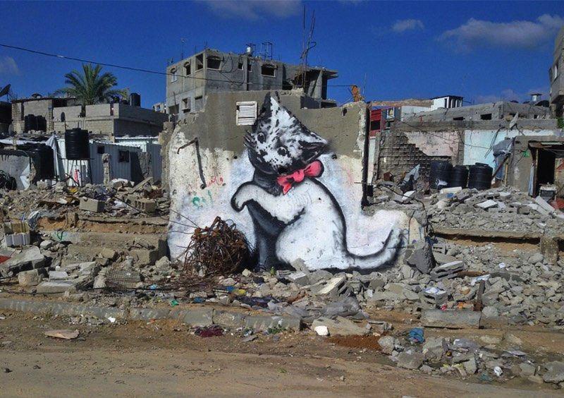 Banksy Visita Gaza Via Pristinaorg Banksy Arte De Rua Banksy E