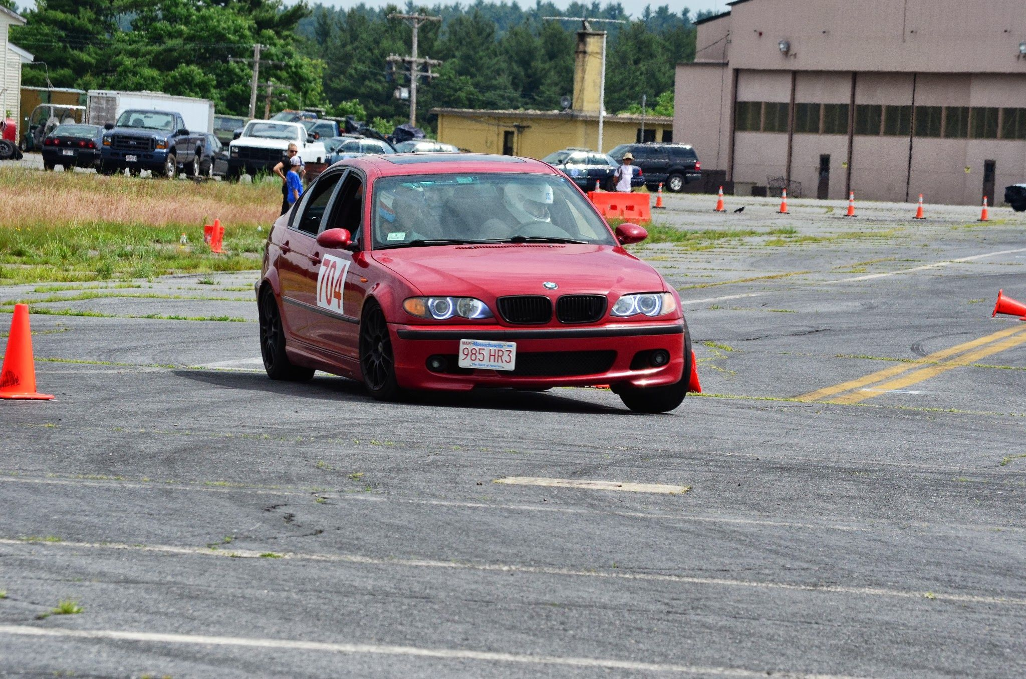 Autocross with the Boston chapter of the BMWCCA, at Devens ...