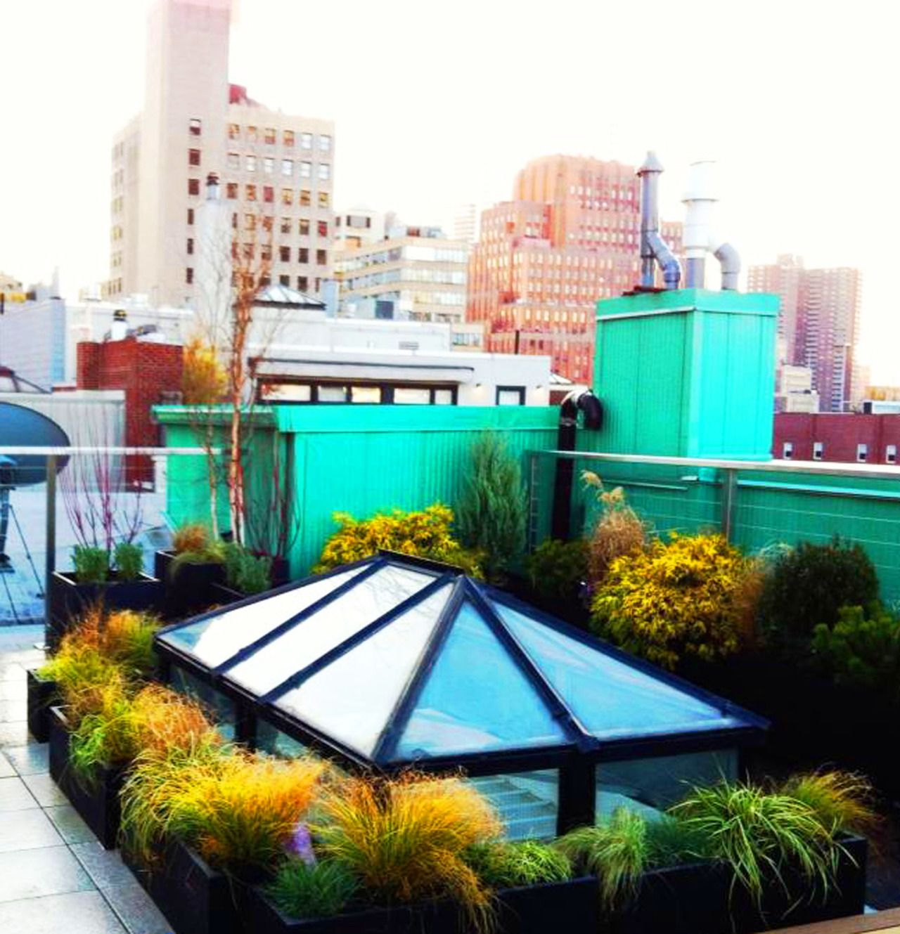Contemporary NYC roof garden