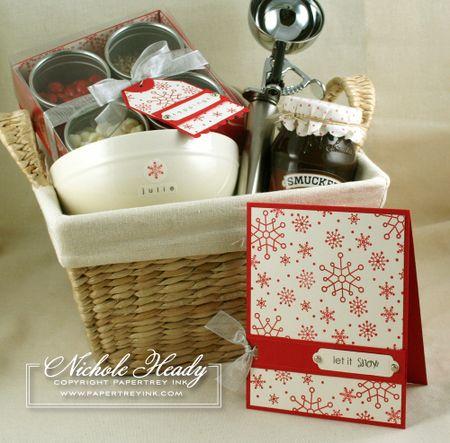 Ice cream sundae gift basket...PDF for toppings box included.