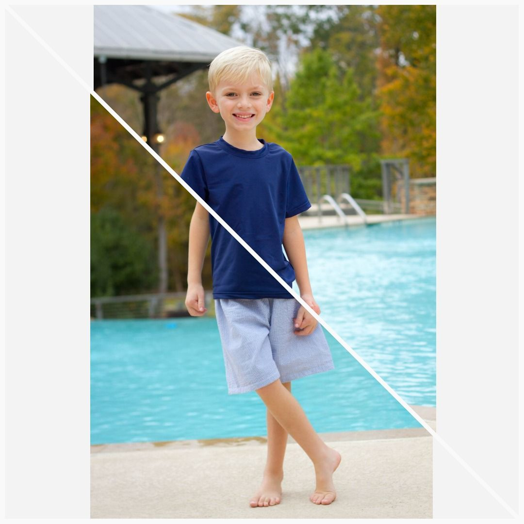2a2e0d5cb4 Boys Rash Guard Swim Shirt - 2 colors in 2019   Designs by April ...