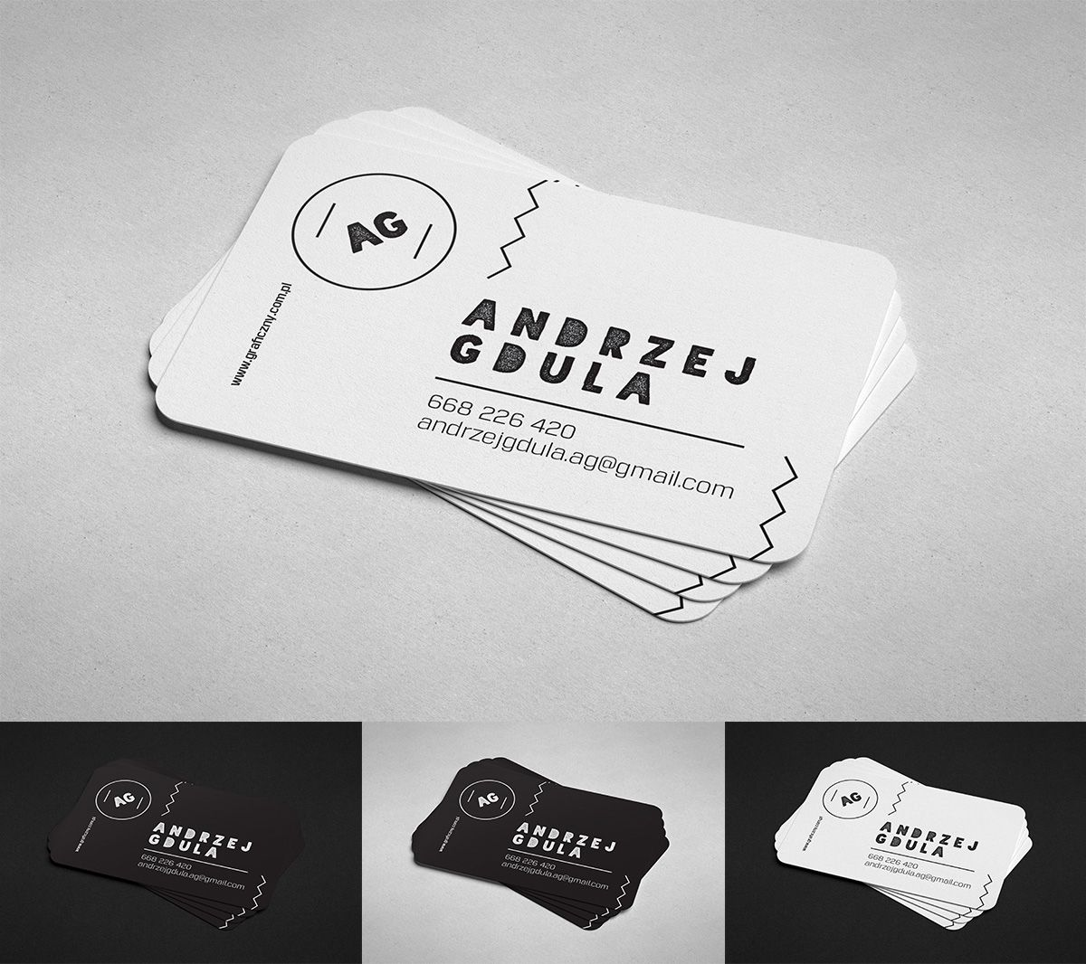 Mockup round corner business card graphic design for Business card rounded corners