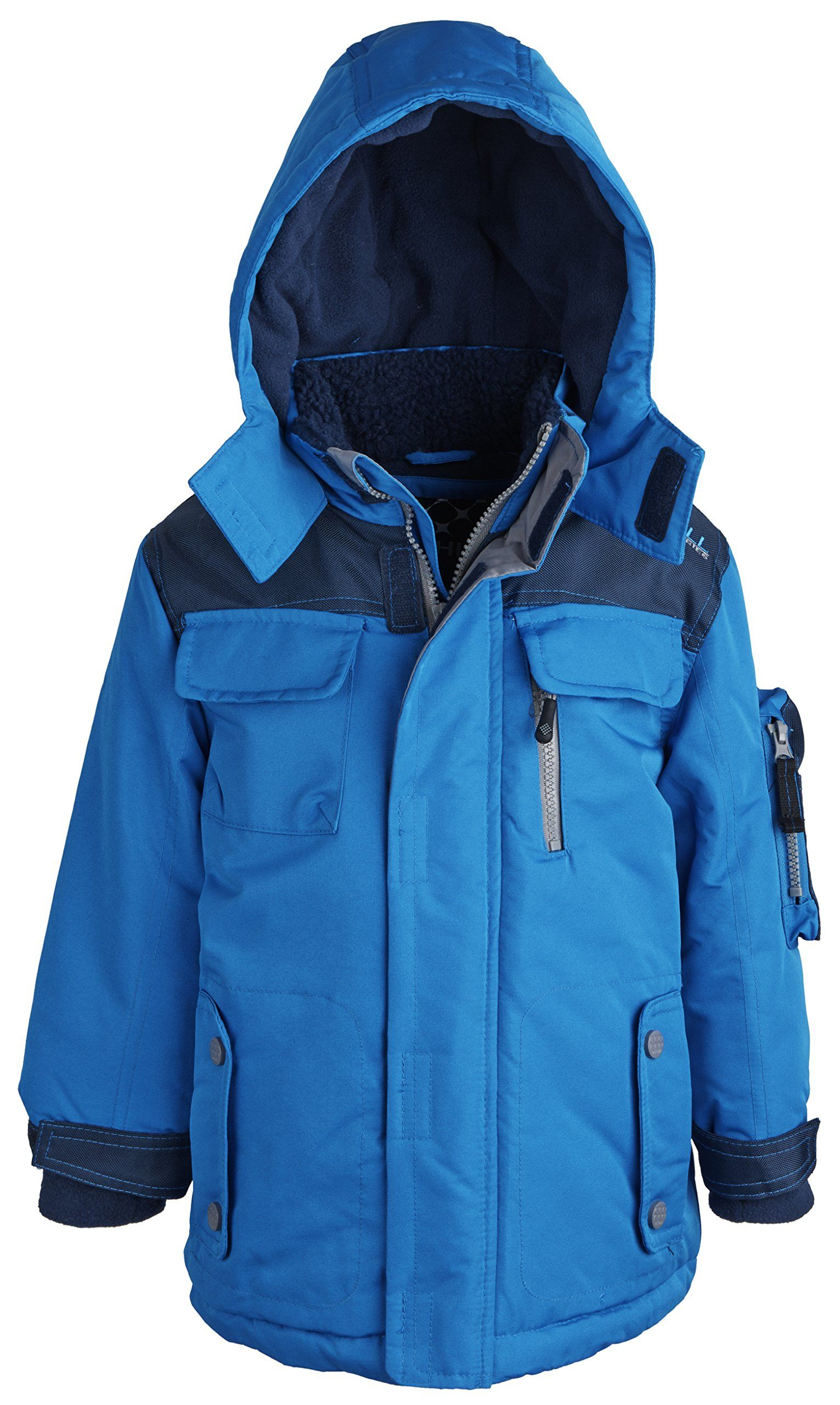caa145025 Big Chill Little Boys Water Resistant Fleece Lined Snowboard Parka Puffer  Coat - Nautica (Size