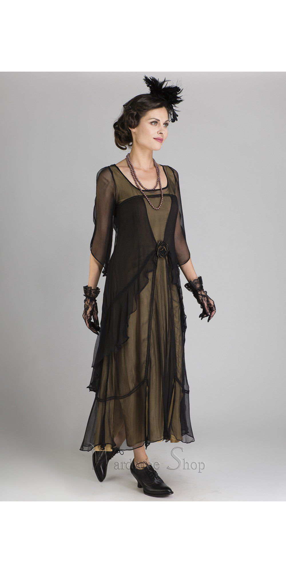 Great Gatsby Party Dress in Black Gold by Nataya | Gatsby party ...