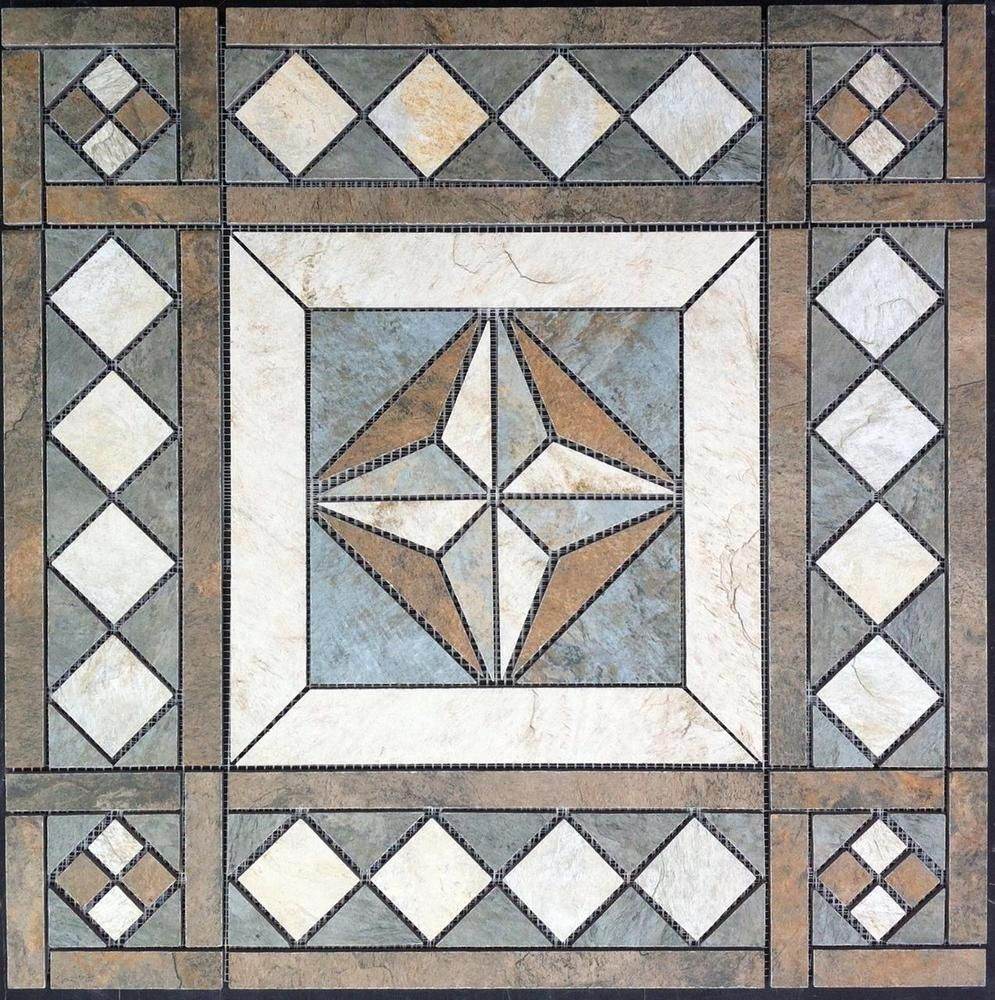 21 12 tile medallion mosaic daltiles franciscan slate tile 21 12 tile medallion mosaic daltiles franciscan slate tile floor or dailygadgetfo Choice Image
