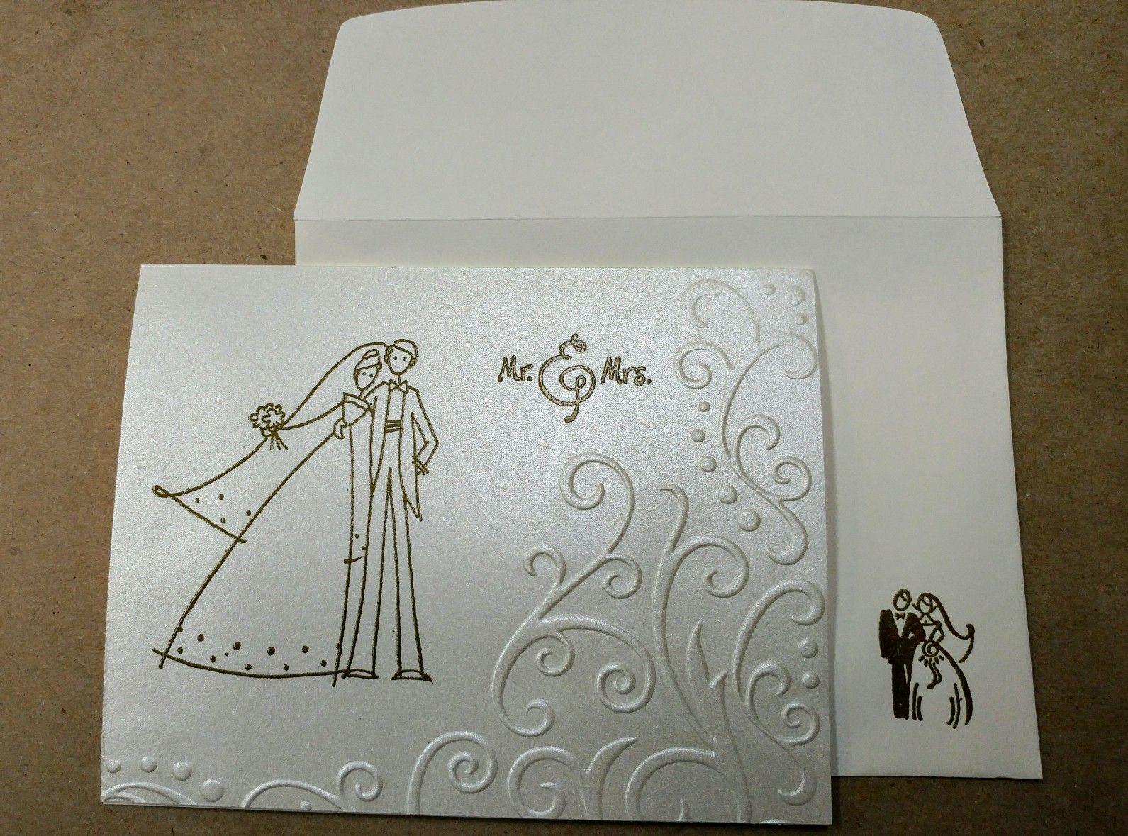 Simple Elegant Line Art : A simple elegant wedding card cards anniversary