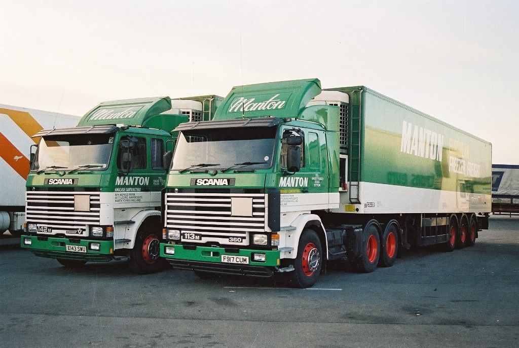 Manton European Freezer Freight Scania 142 Scania 113 Cool Trucks Trucks Old Trucks