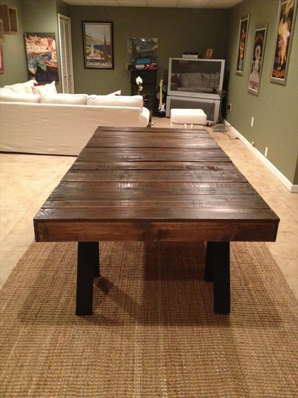 Mesa de comedor con palets mesas y mesas auxiliares de palets pinterest mesa de comedor - Mesas hechas con palets de madera ...