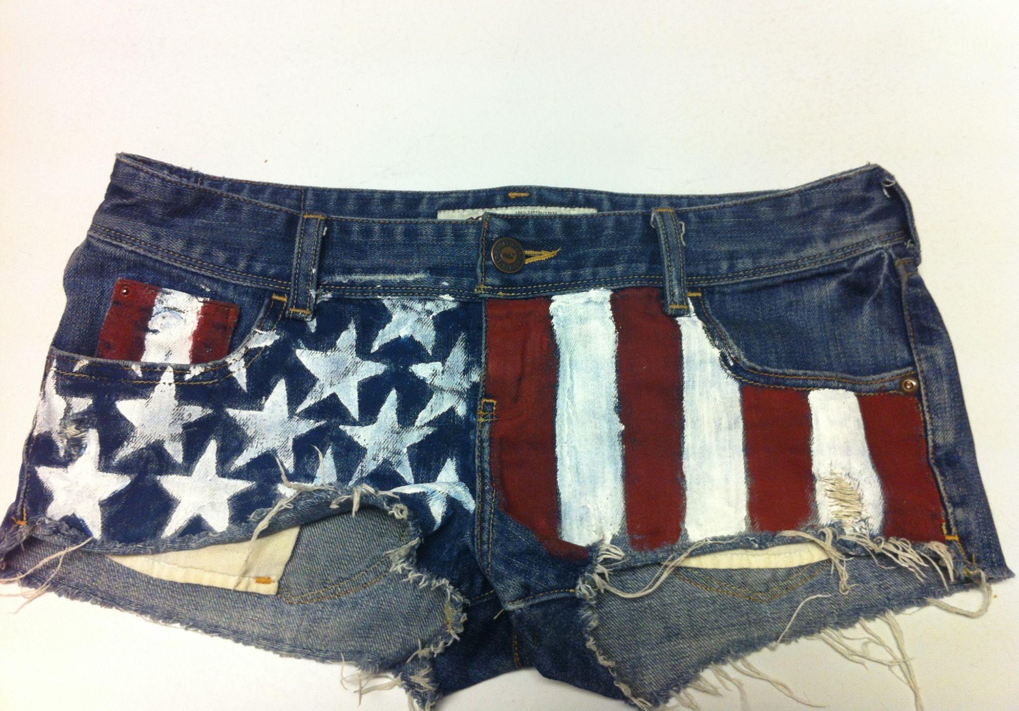 How to DIY American Flag DenimShorts