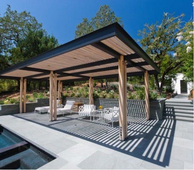 Steel pergolas ideas and designs steel pergola pergola for Steel and wood pergola
