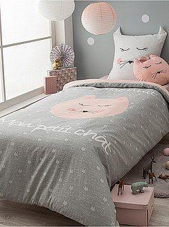 lit enfant linge de lit Linge de lit enfant   Parure de lit 1 personne 'petit chat  lit enfant linge de lit