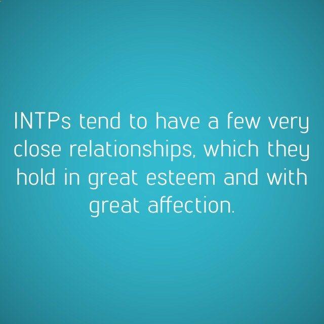 Intp dating and relationships
