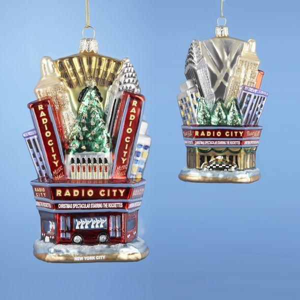 Kurt Adler NYC Radio City Music Hall Rockettes Glass Christmas Ornament 5 - Kurt Adler NYC Radio City Music Hall Rockettes Glass Christmas