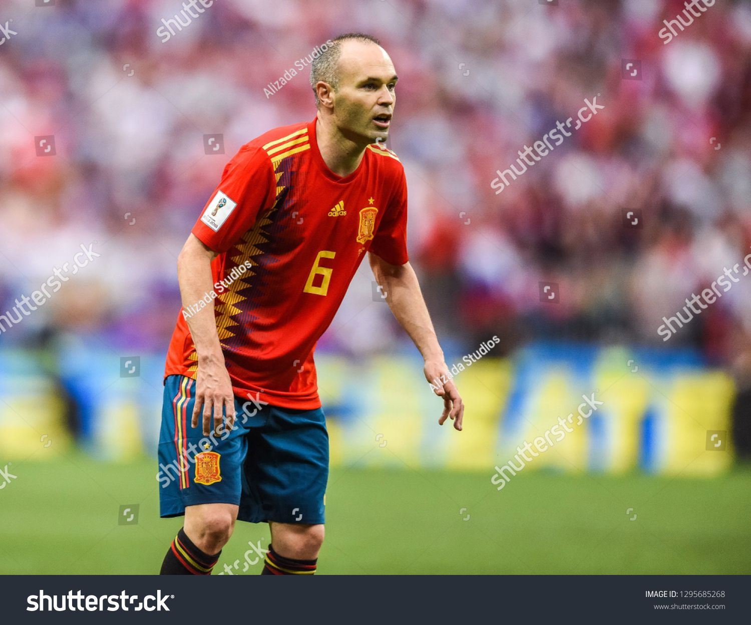Moscow Russia July 1 2018 Spain National Football Team Midfielder Andres Iniesta During Fifa Spain National Football Team National Football Teams Iniesta