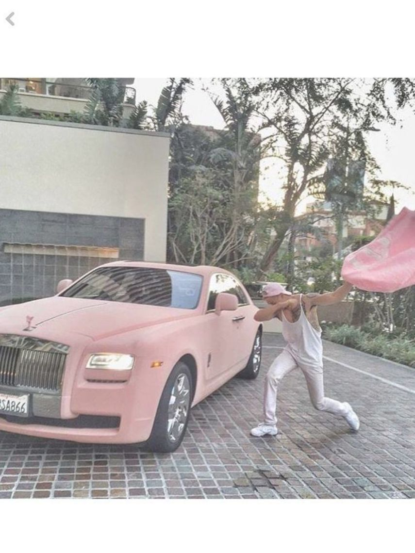 Photo of Pink Suede Rolls Royce