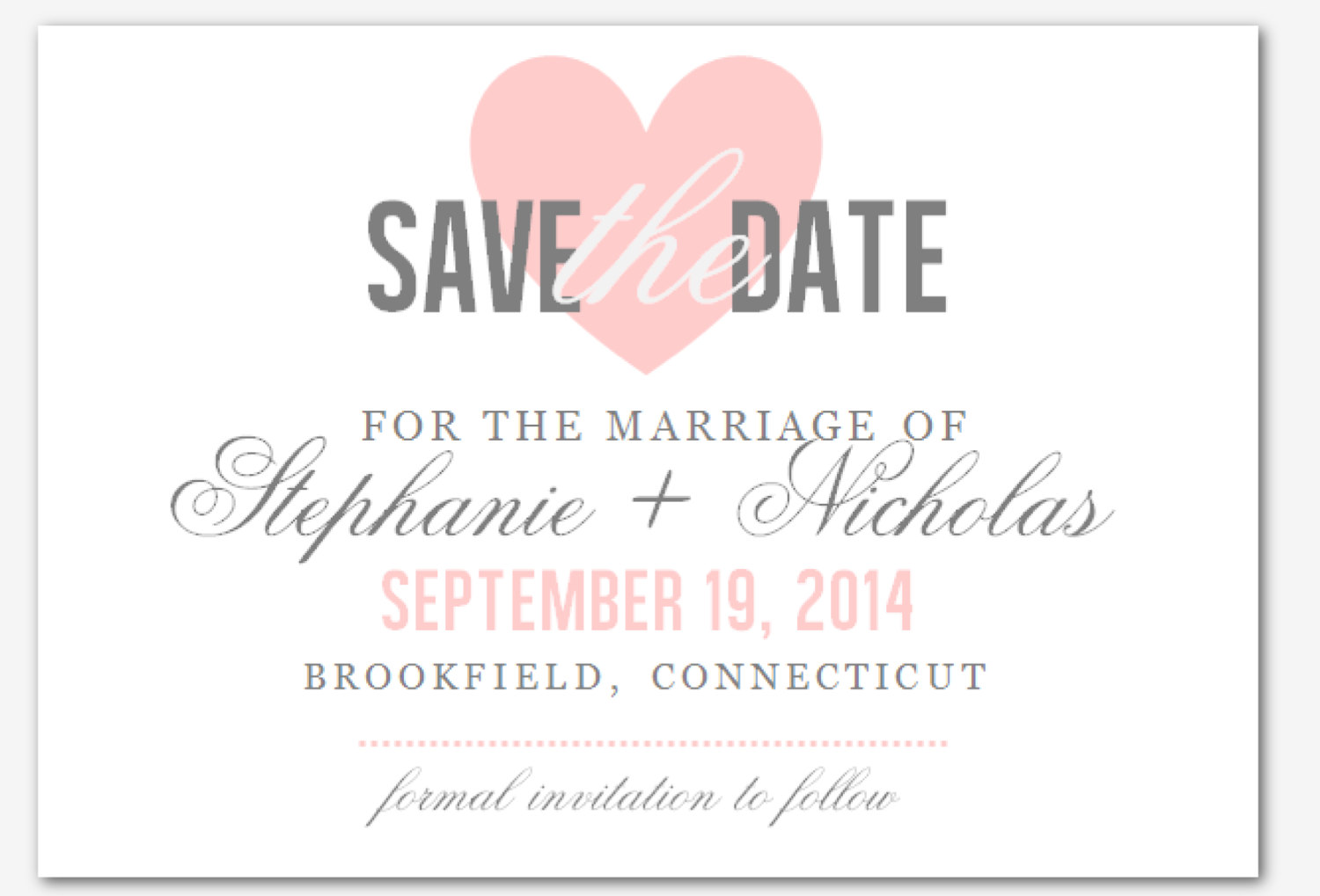 DIY Printable MS Word Wedding Save the Date Template by INKPOWER ...