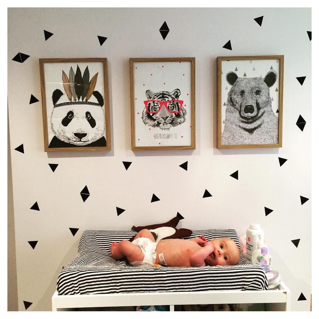 Safari moderno  Chambre bébé rétro, Idée déco chambre bébé, Deco