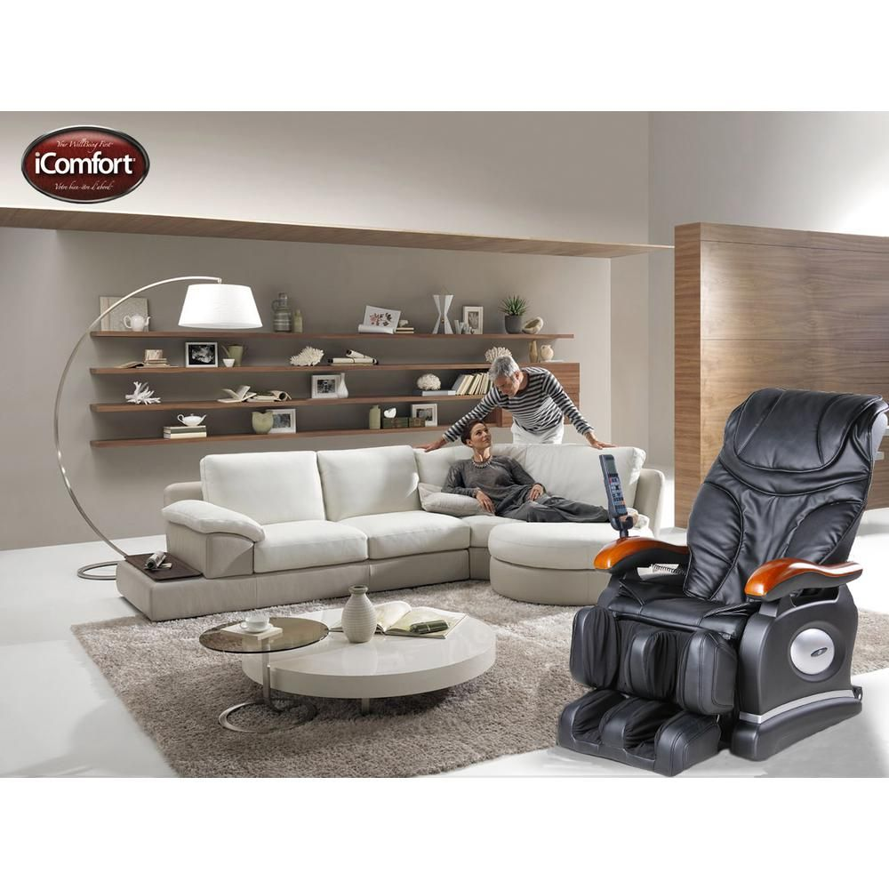 Faux Leather Massage Chair in Black  Living room styles, Living