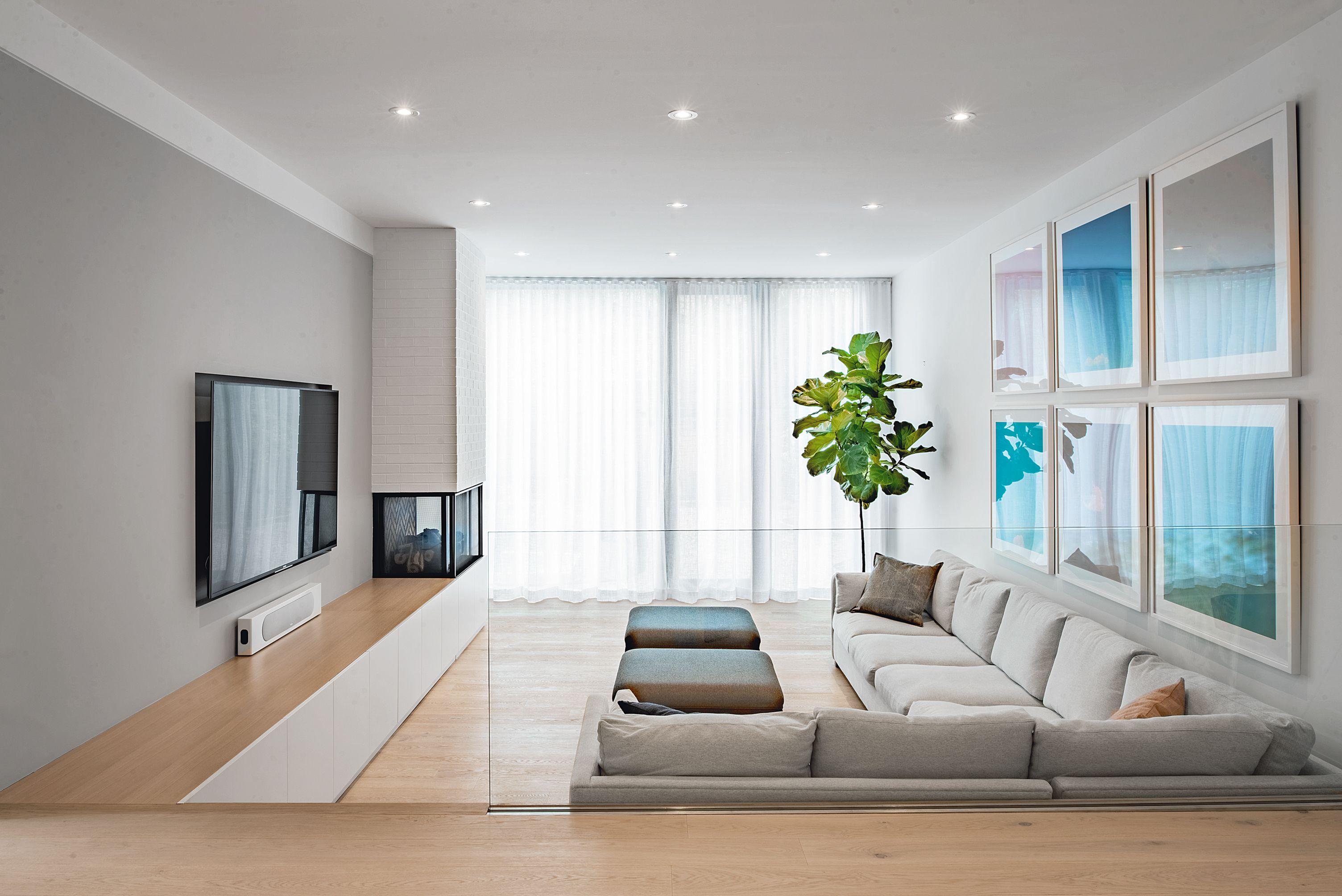 Richview Residence Sunken Living Room Living Room Design Inspiration Oak Floor Living Room