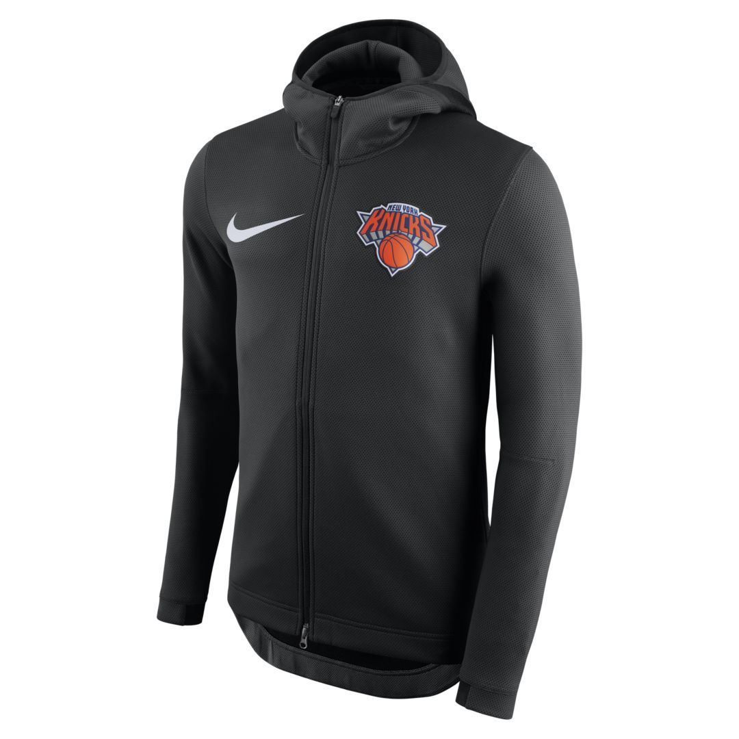 8cbcf8019aaa New York Knicks Nike Therma Flex Showtime Men s NBA Hoodie Size 2XL (Black)