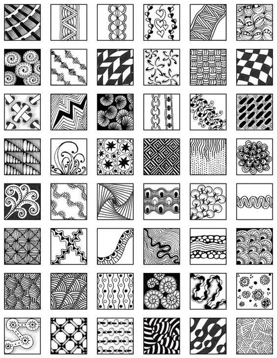 Zentangle My Zentangle Doodle Reference Sheet #2 Zentangle - reference sheet examples