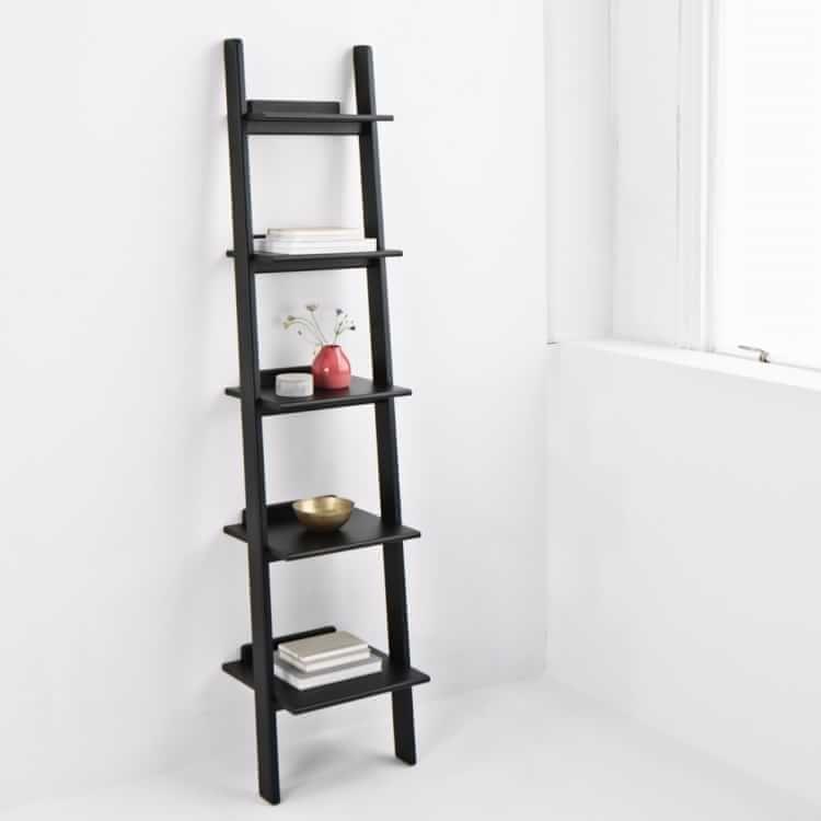 Modern Leaning Narrow Bookshelf Narrow Bookshelf Bookshelves Black Bookshelf