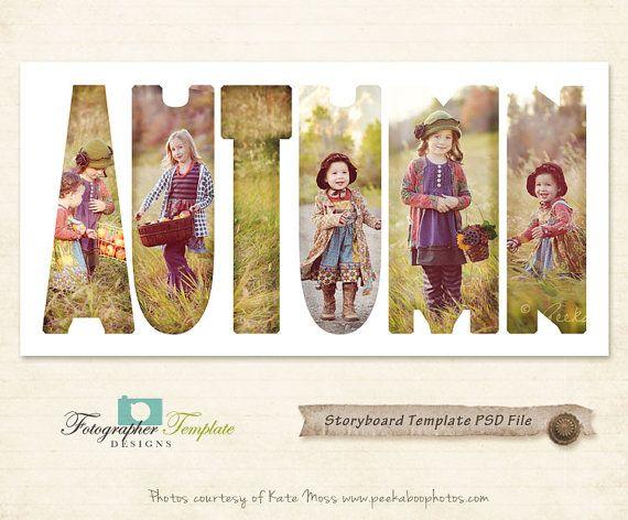 Autumn Photography Storyboard Templates Par Photographertemplate