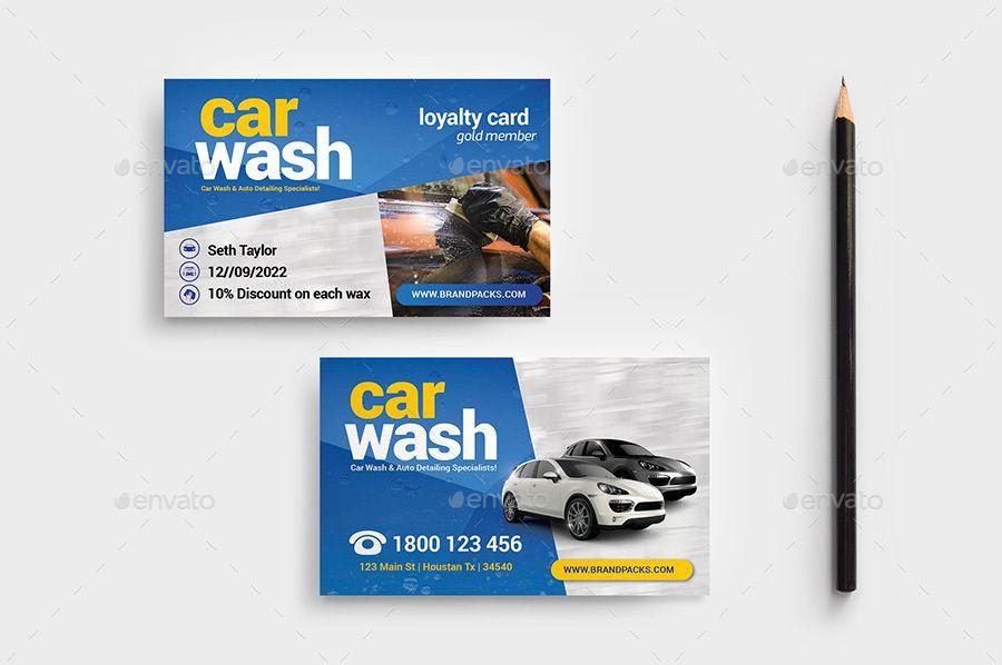 Car Wash Business Loyalty Card Wash Car Business Card