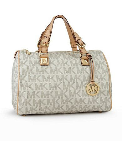 Large Mk Logo Satchel Michaelkors Available At Dillards Handbags
