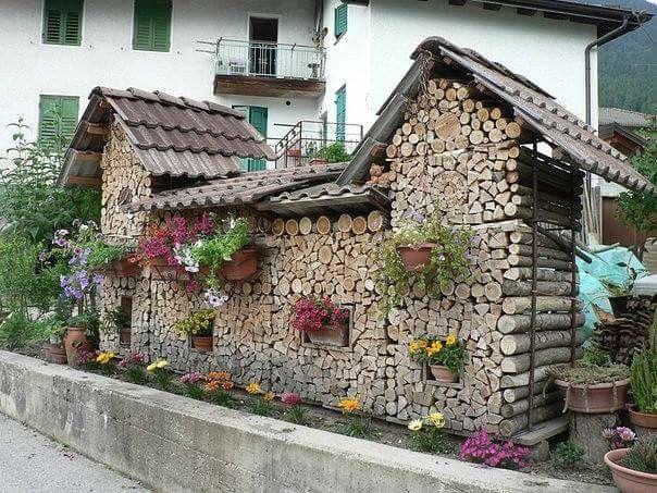 Dřevo na zimu Holz Pinterest Holz, Rund ums haus und Runde - brennholz lagern ideen wohnzimmer garten