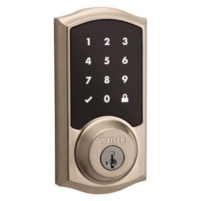 Weiser 9ged21000 00 Powerbolt Smartkey Electronic Entry Door