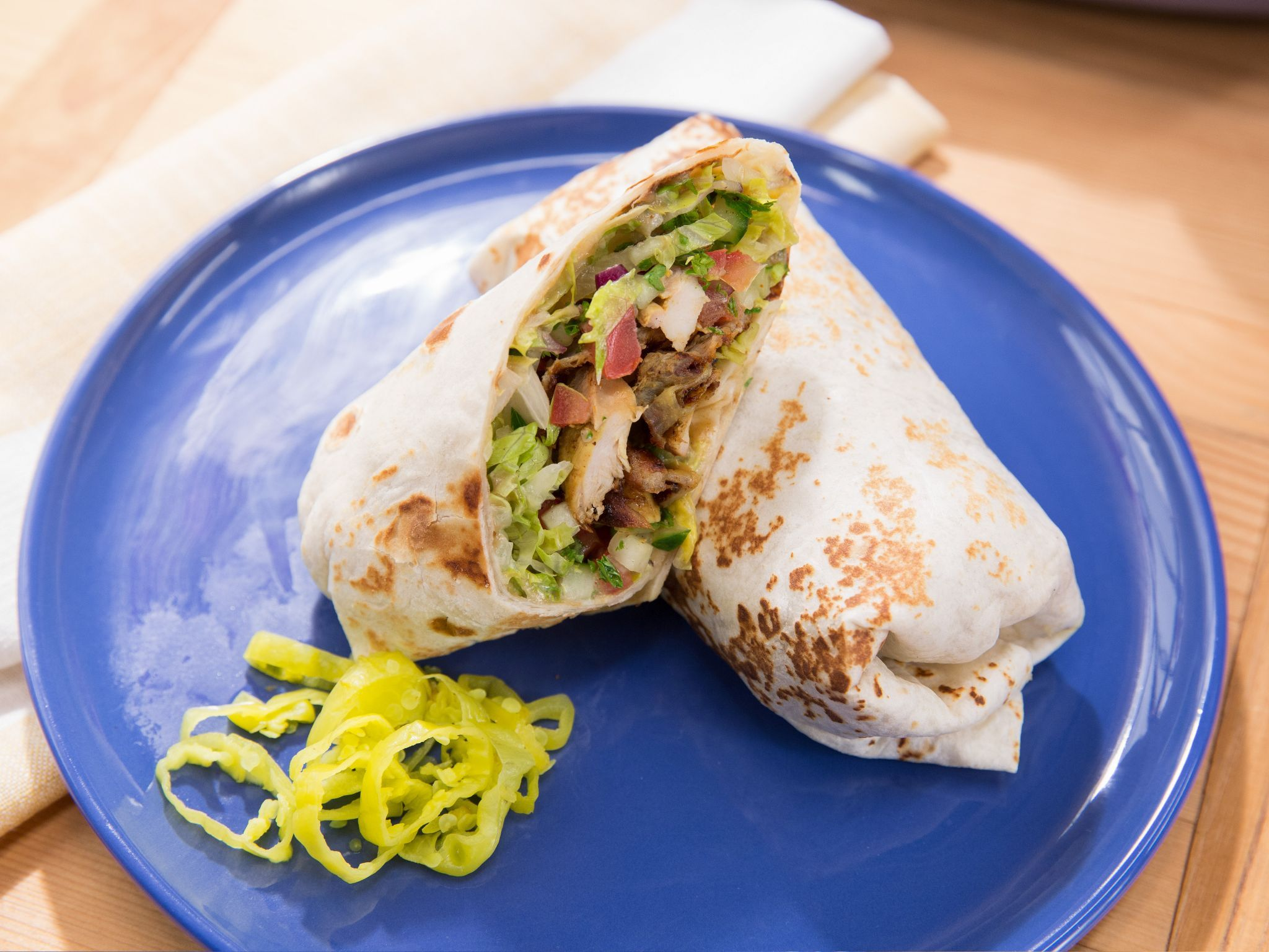 Almost Famous Chimichangas chicken shawarma wrap