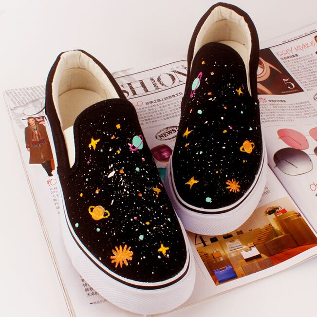 Harajuku planet universe canvas shoes - Thumbnail 1  ed849078a6f4