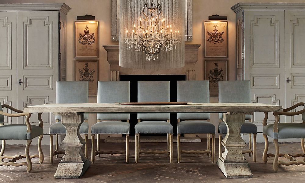 Rooms Restoration Hardware Bleached Dated Wood Tresses Table