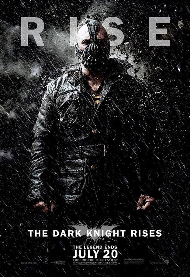 New Dark Knight Rises Character Posters Bane Batman Pinterest