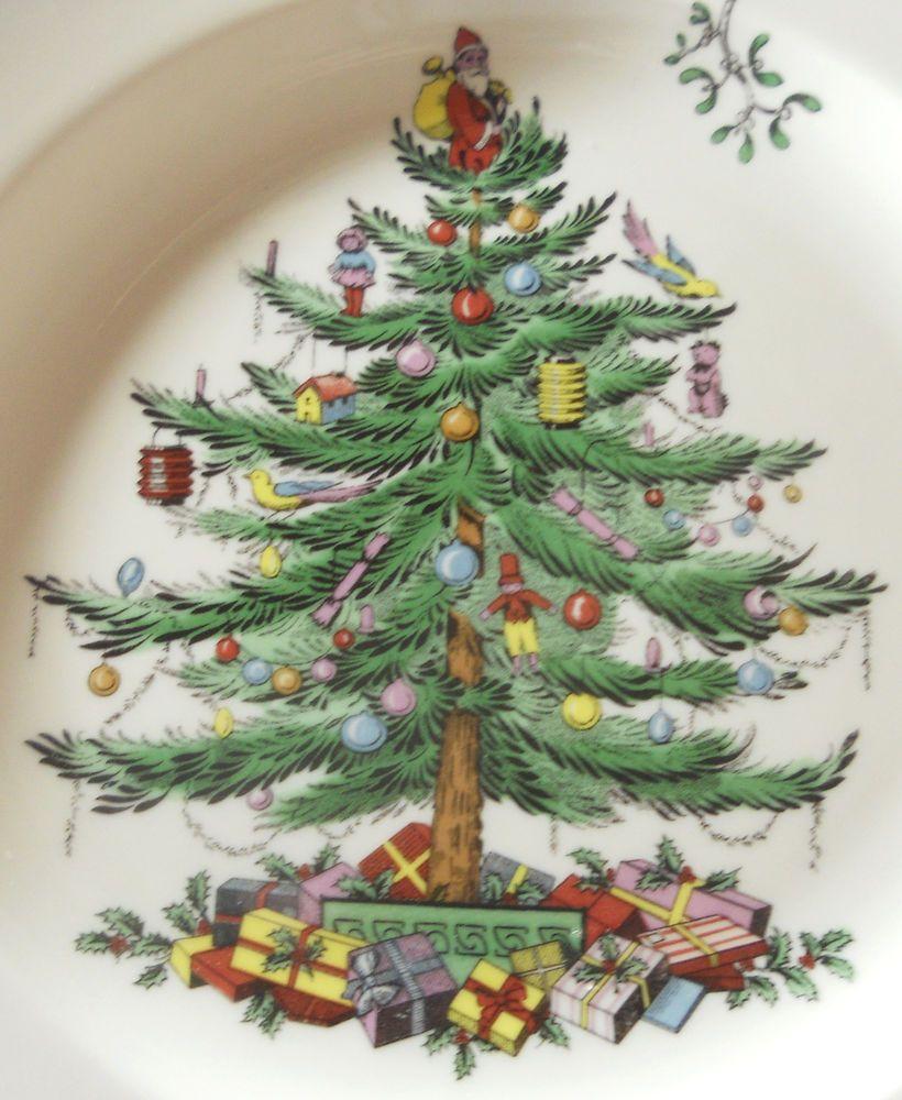 Spode Christmas Tree Dinner Plate Green Trim S3324-A12 NEW #Spode & Spode Christmas Tree Dinner Plate Green Trim S3324-A12 NEW #Spode ...