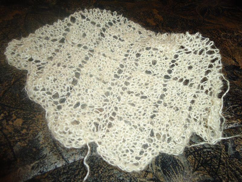 платок пуховый вязать спицами схема и описание