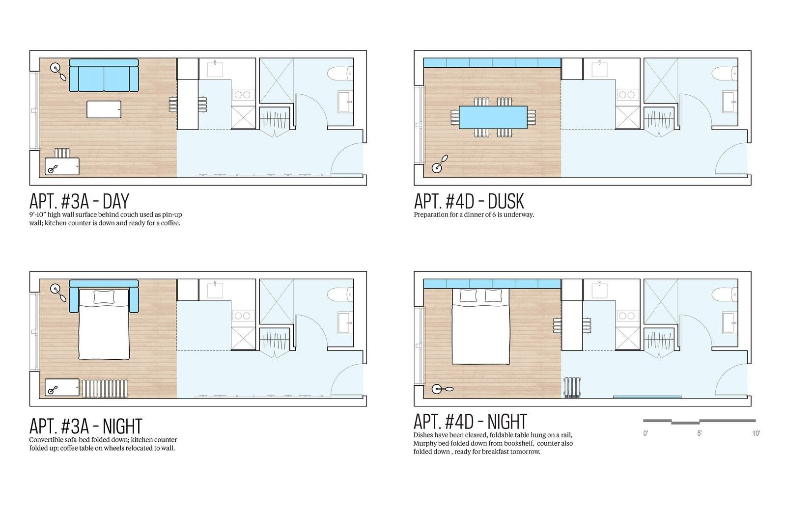 Studio Apartment Floor Plans New York this micro apartment showcases high design along with smart