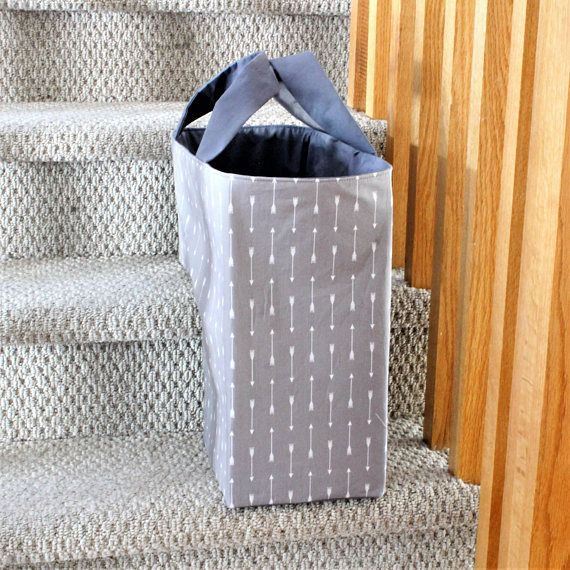 The Stair Duffel Is A Soft Structured Storage Basket And Makes A Perfect  Addition To Your Grey Home Decor! This Fabric Stair Basket Collects All  Those Odds ...