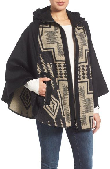 Pendleton Hooded Wool Cape available at #Nordstrom