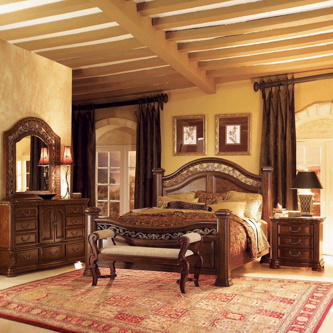 Best Wynwood Granada Mansion Bedroom Set Sleigh Bedroom Set 400 x 300