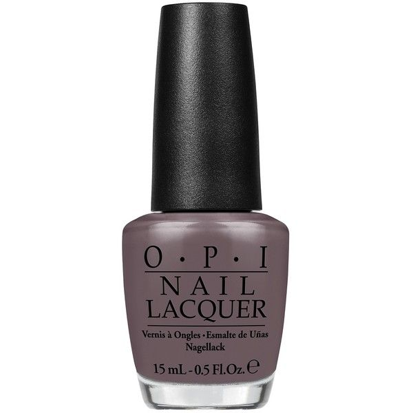 Opi I São Paulo Over There (35 AUD) ❤ liked on Polyvore featuring beauty products, nail care, nail polish, beauty, makeup, nail, grey, hygiene, womens-fashion and opi nail color