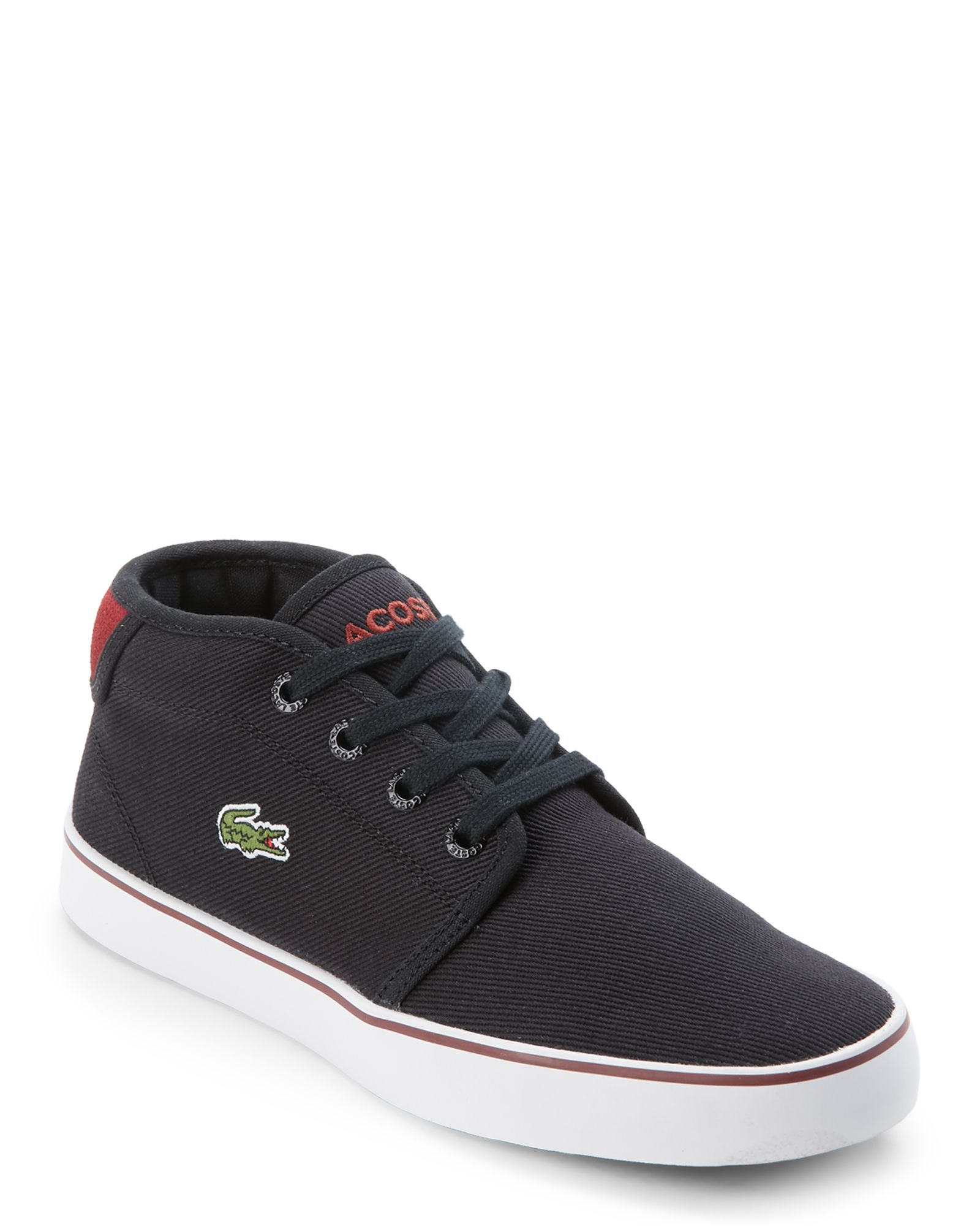 ad758edd3 Lacoste (Kids Boys) Navy Ampthill 116 Canvas Mid Sneakers